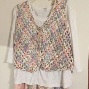 Vest shirt and Skirt